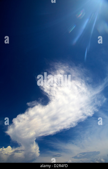 Cloud formation, Maldives, Indian Ocean, Asia - Stock Image