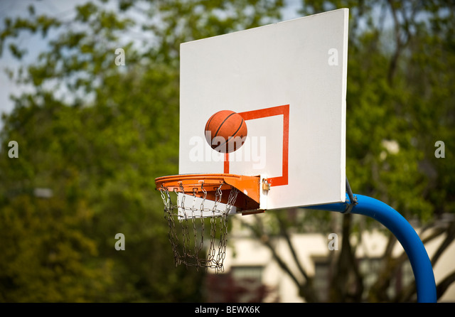 basketball shot - Stock Image