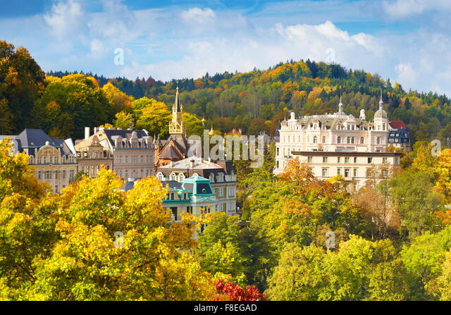 Karlovy Vary, Bohemia, Czech Republic, Europe - Stock-Bilder