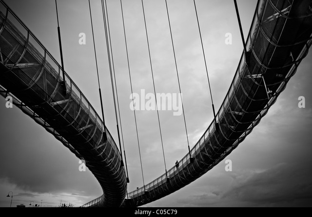 Cable bridge - Stock-Bilder