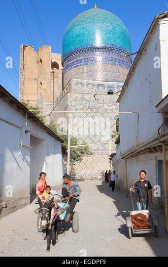 Bibi-Khanym, Mosque Samarkand, Samarqand Province, Uzbekistan - Stock Image