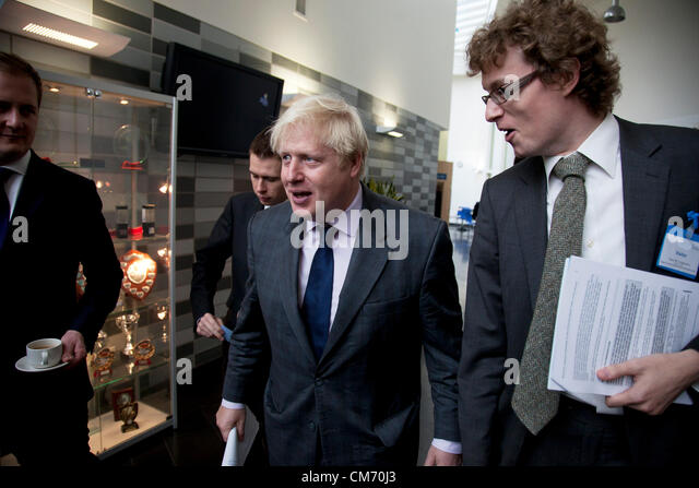 The Mayor of London, Boris Johnson attends Pimlico Academy announcing plans to make London a world leader in education. - Stock Image