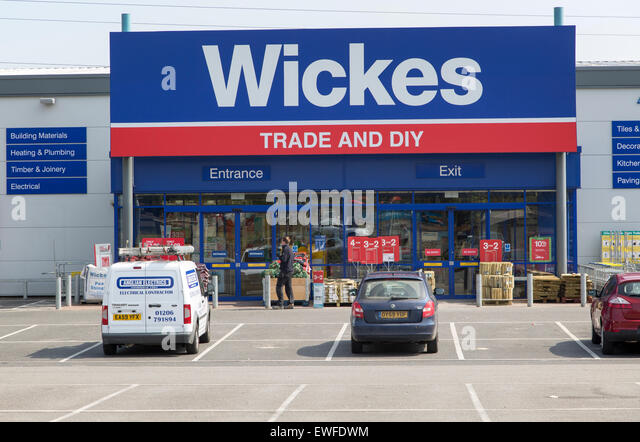 Wickes trade and DIY shop in central Ipswich, Suffolk, England, UK - Stock Image