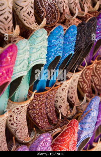 Shoes for sale, Dubai, United Arab Emirates - Stock Image