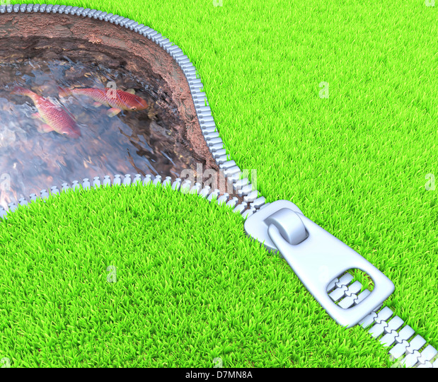 Dam, conceptual artwork - Stock Image