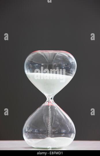 Contemporary hourglass - Stock Image