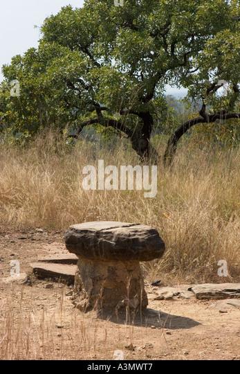 Mystic Stone outside Larabanga Village, North Ghana - Stock Image