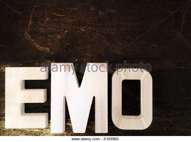 the word Emo - Stock Image