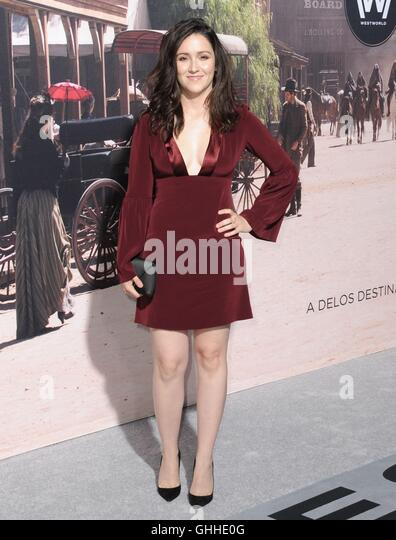 Los Angeles, CA, USA. 28th Sep, 2016. Shannon Woodward at arrivals for WESTWORLD Premiere on HBO, TCL Chinese 6 - Stock Image