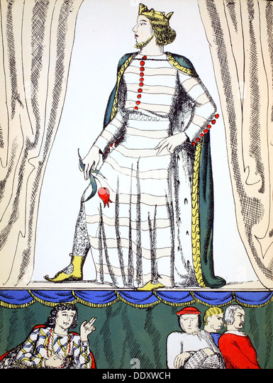 Edward II, King of England from 1307, (1932). Artist: Rosalind Thornycroft - Stock Image