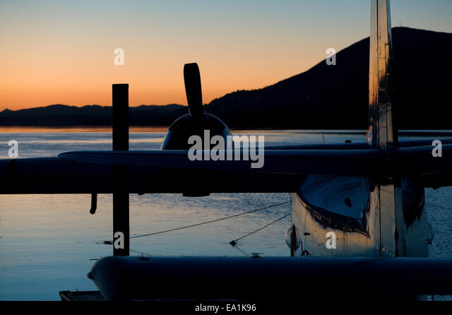Seaplane Splash-In, Lakeport, California, Lake County, California - Stock Image