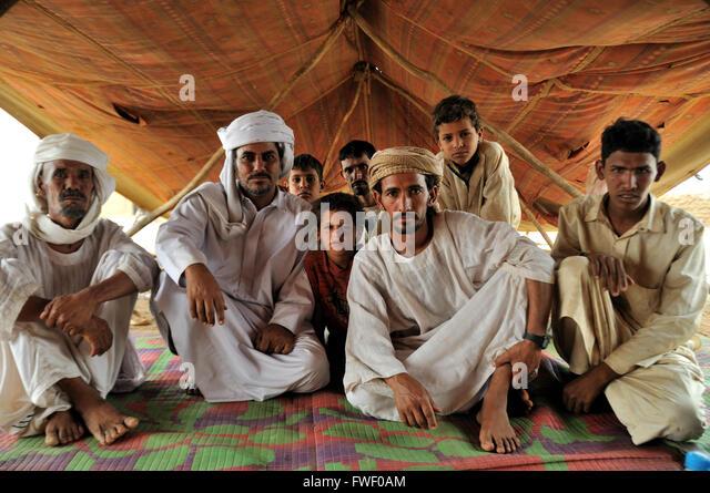 Men, Rashaida camp near Kassala - Stock-Bilder