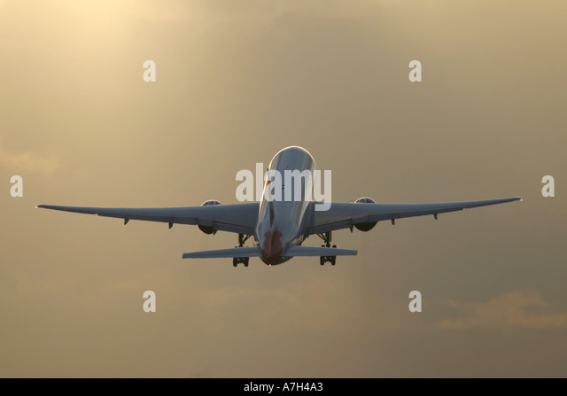 Airplane taking off - Stock Image