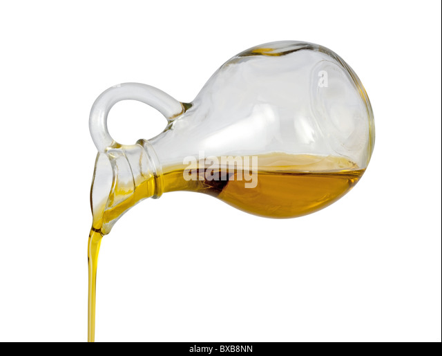 Olive Oil Pour isolated on a white background - Stock-Bilder