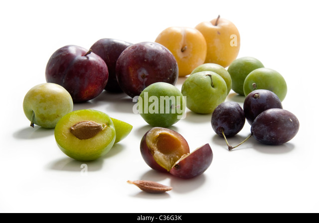 Different kinds of plum - Stock Image
