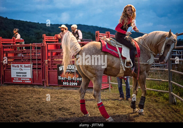 Rodeo, Eliicottville, New York - Stock Image