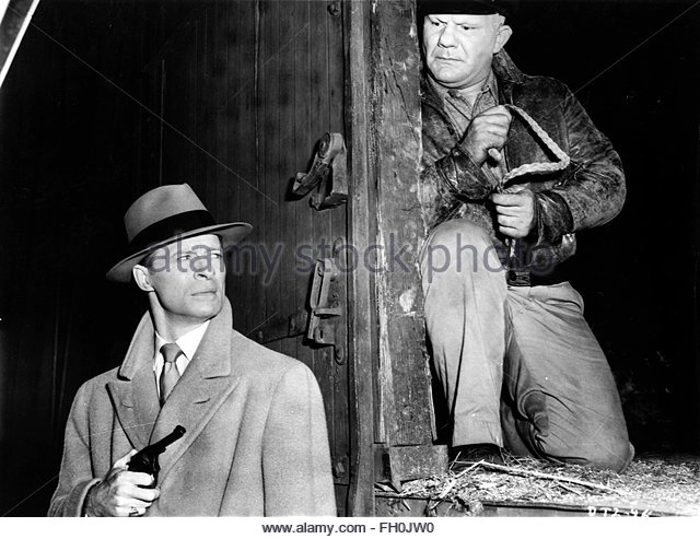 DICK TRACY VS. CUEBALL (1946) - MORGAN CONWAY (left).  Courtesy Granamour Weems Collection. Editorial use only. - Stock Image