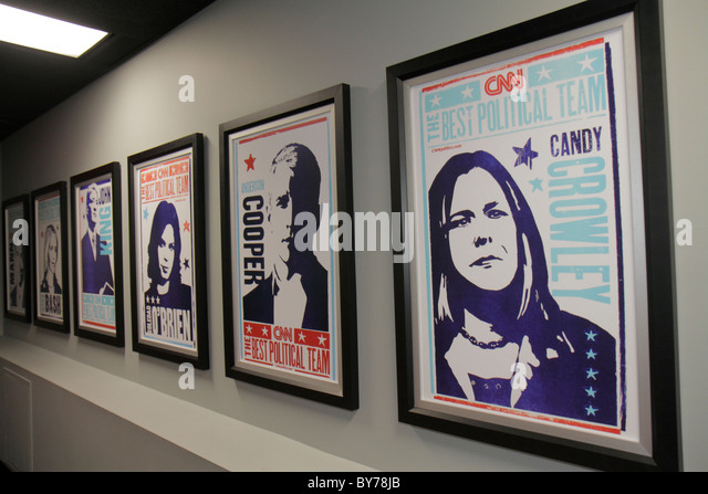 Atlanta Georgia CNN Center Cable News Network television news media world headquarters Inside CNN Studio Tour hallway - Stock Image