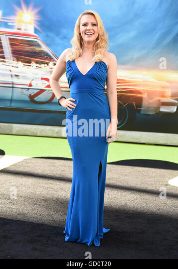 Hollywood, California, USA. 9th July, 2016. Kate McKinnon arrives for the premiere of the film 'Ghostbusters' - Stock Image