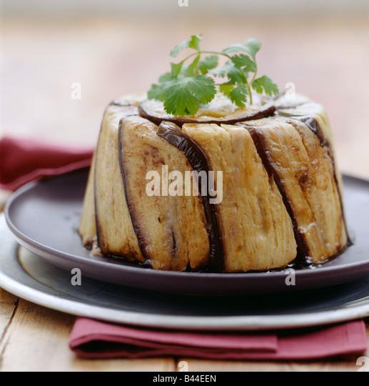 Eggplant charlotte - Stock Image