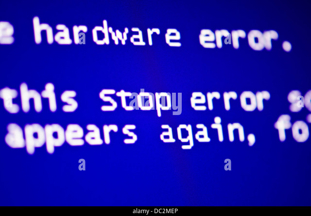 Blue screen of death, computer error crash - Stock Image