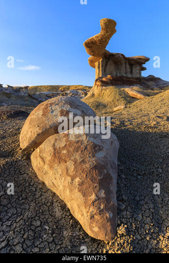 King of Wings in the Bisti Wilderness, New Mexico, USA - Stock-Bilder