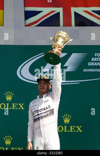 Silverstone, Northants, UK. 05th July, 2015. Formula 1 British Grand Prix. Lewis Hamilton, Mercedes AMG Petronas - Stock Image