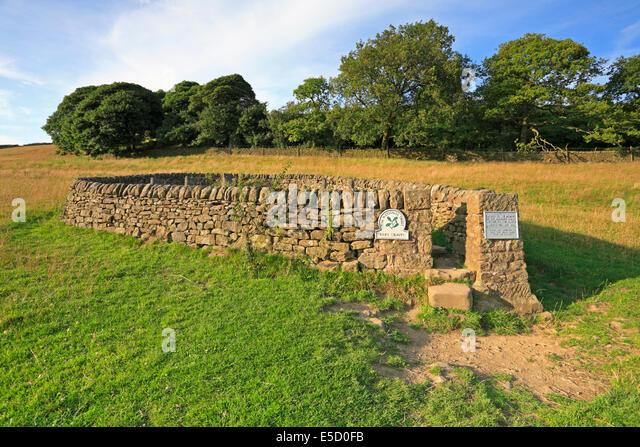 The Riley Graves, Eyam plague village, Derbyshire, Peak District National Park, England, UK. - Stock Image