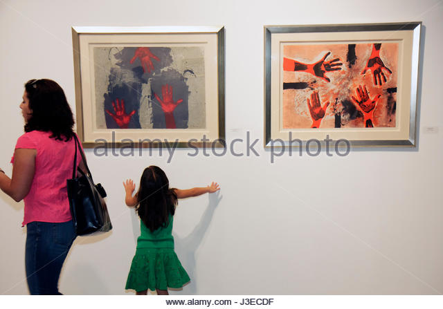 Miami Florida Miami Art Central Festival Mexico Miami gallery Rufino Tamayo prints exhibition Mexican artist woman - Stock Image