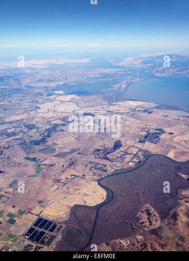 USA, California, California Desert from above - Stock Image