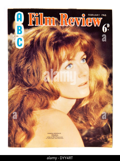 British actress Vanessa Redgrave starring in 'Camelot', on the front cover of ABC Film Review magazine - Stock-Bilder