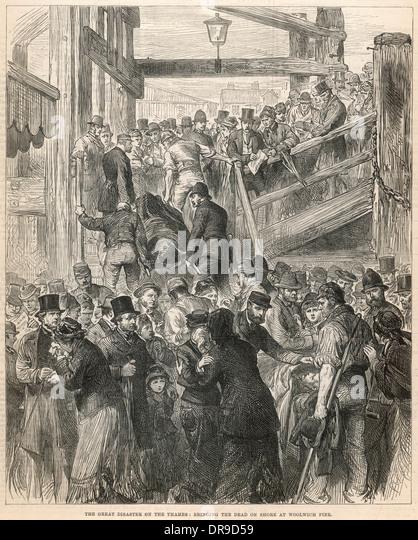 Princess Alice disaster 1878 - Stock-Bilder