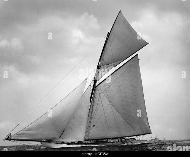 The Yacht Jubilee, August 2 1895 - Stock Image