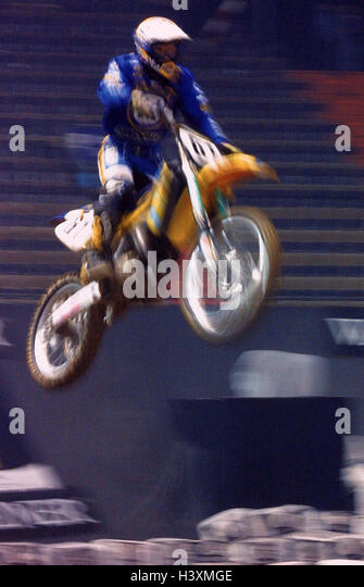 Moto cross drivers, crack, motor sport, motorcycle sport, motorcycle, cross machine, cross driver, moto cross, jump, - Stock Image