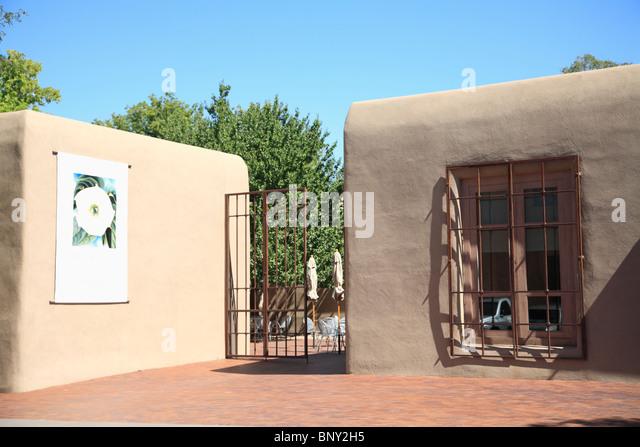 Georgia O'Keeffe Museum, Santa Fe, New Mexico, USA - Stock Image