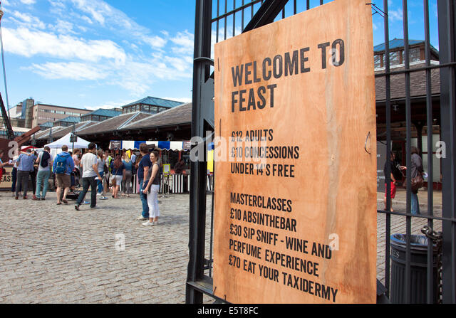 London, England - 3rd August 2014 'Feast' food festival showcases the best of London's restaurants and - Stock Image