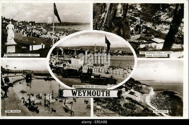 Multiview, Weymouth, Dorset, England.  1940s - Stock Image