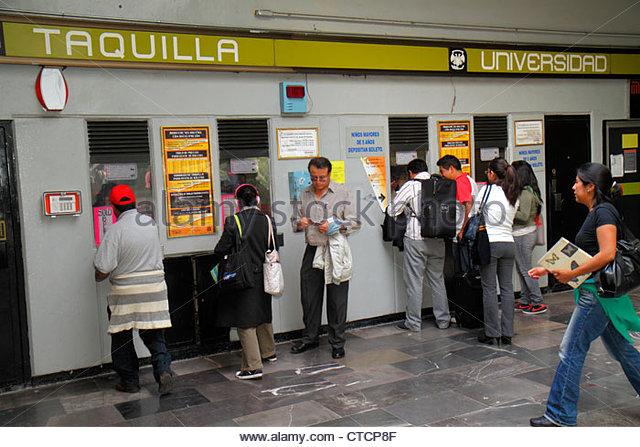 Mexico City Mexico DF D.F. Ciudad de México Federal District Distrito Federal Mexico City Metro subway Universidad - Stock Image