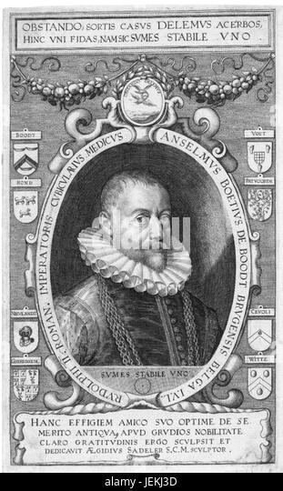 ANSELMUS de BOODT (1550-1632) Flemish physician, naturalist, humanist - Stock-Bilder