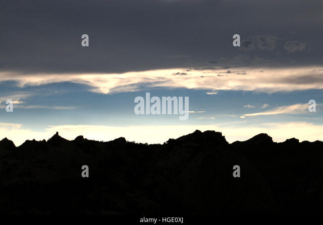 Sunset and clould  Dinosaur National Monument Utah - Stock Image