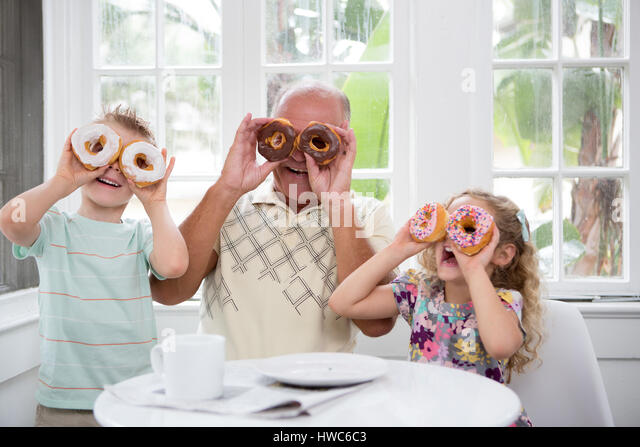 playing with food - Stock Image