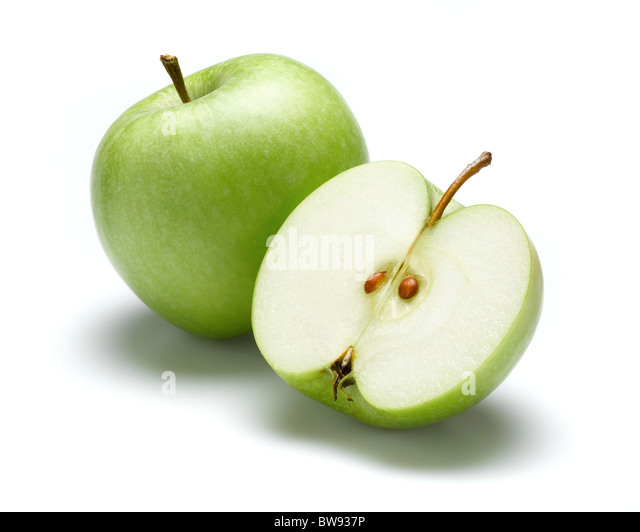 granny smiths apples for cut out - Stock Image