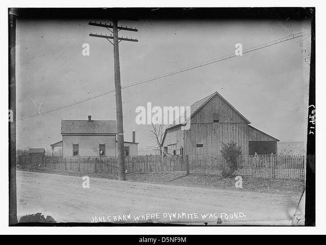 Jones Barn where dynamite was found (LOC) - Stock Image