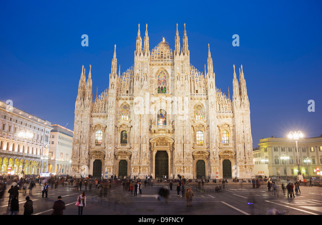 Duomo (Milan Cathedral), Milan, Lombardy, Italy - Stock Image