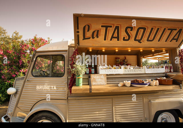 La Tasquita Old food truck. Malaga. Costa del Sol, Andalusia southern. Spain Europe - Stock Image