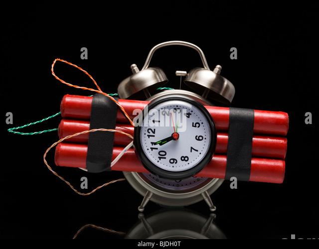 dynamite alarm clock - Stock Image