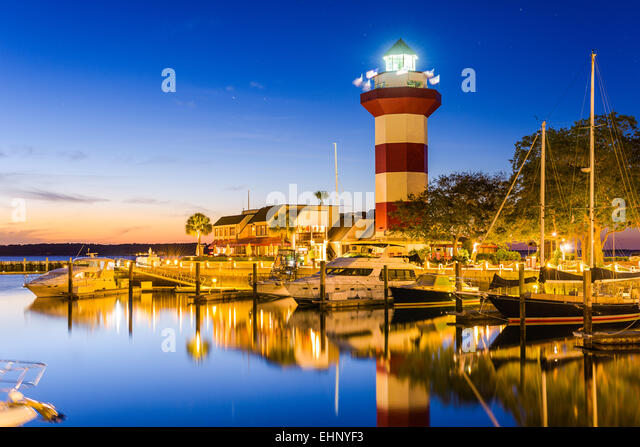 Hilton Head, South Carolina, USA at the Lighthouse. - Stock Image