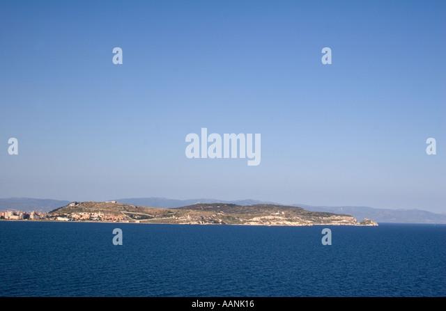 Golf of Cagliari, Sardinia, Europe, seascape, Cagliari Sardinia water holiday vacation destination outside outdoor - Stock Image