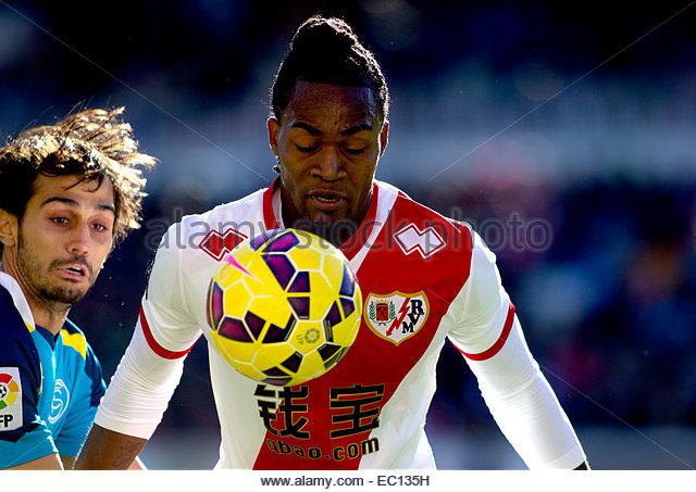 SPAIN, Madrid: Rayo Vallecano´s Angolan forward player MATEUS ALBERTO CONTREIRAS GONÇALVES during the - Stock Image