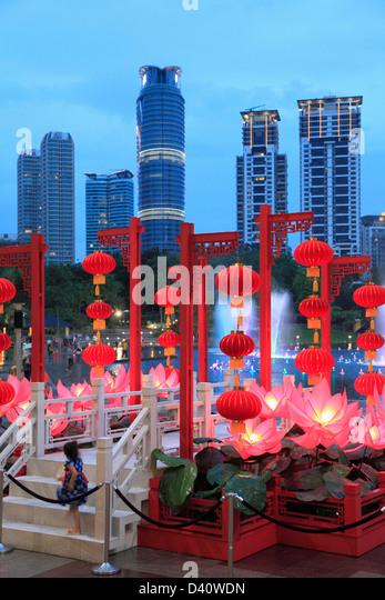 Malaysia, Kuala Lumpur, City Centre, skyline, Chinese New Year, - Stock Image